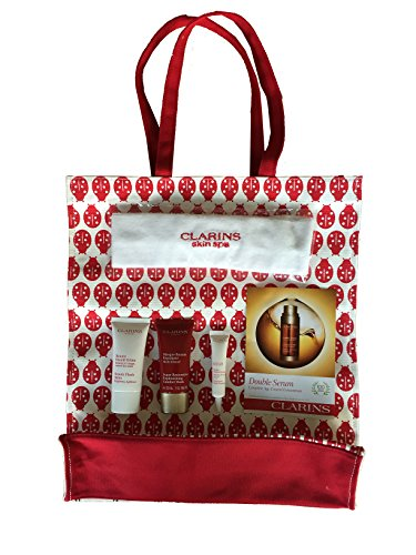 [Clarins Travel & Gift Tote - Super Restorative Replenishing Comfort Mask, Beauty Flash Balm, UV Plus Sunscreen, Double Serum and Headband] (Beauty Flash Balm)