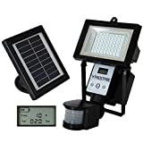 Frostfire Digital 80 LED Ultra Bright Solar Powered Motion Detector Light