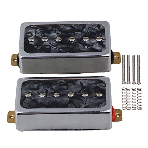 Yibuy Black Pearl P90 Single Coil Bridge & Neck Pickups Set for Electric Guitar Parts