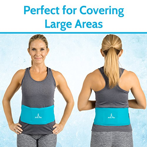 Arctic Flex Hot Cold Therapy Wrap - Reusable Gel Ice and Heat Compress Pack with Strap for Muscle, Injuries, Back, Neck Aches, Knee, Ankle, Calves, Elbow Pain Relief - Microwaveable Blue Pad, Flexible by Arctic Flex (Image #3)