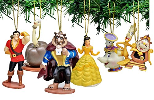 Disney's Beauty and the Beast Holiday Ornament Set of -