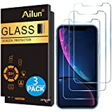 Ailun Glass Screen Protector for iPhone XR 6.1 Inch 2018 Release 3 Pack Tempered Glass Screen Protector Compatible Apple iPhone XR 6.1 Inch Display Anti Scratch Advanced HD Clarity Work Most Case