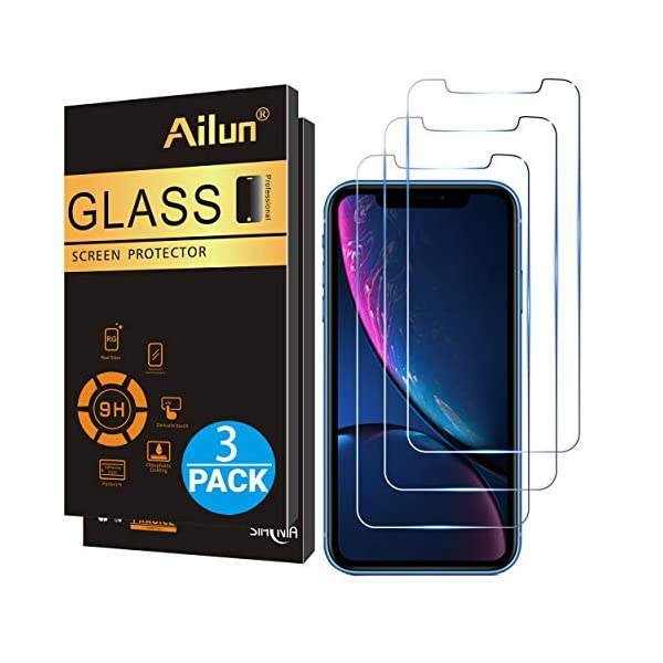 Ailun-Glass-Screen-Protector-for-iPhone-XR-61-Inch-2018-Release-3-Pack-Tempered-Glass-Screen-Protector-Compatible-Apple-iPhone-XR-61-Inch-Display-Anti-Scratch-Advanced-HD-Clarity-Work-Most-Case