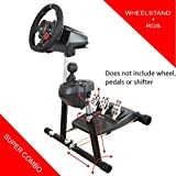 Racing Steering Wheel Stand SuperG with RGS shifter mount for Logitech G29, G920, G27 and G25 Wheels, Deluxe, Wheel and Pedals Not included.