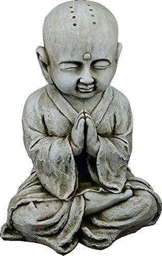 DEGARDEN AnaParra Figura Buda Shaolin Abundancia para el jardín Decorativa 44cm. hormigón Color Ceniza: Amazon.es: Jardín