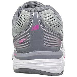 New Balance Women's 680v5 Cushioning Running Shoe, Silver Mink, 11 B US