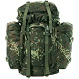 German Army Rucksack Military Mountain Bergen Patrol Pack Backpack 80L Flecktarn Camo