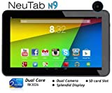 NeuTab N9 9'' Dual Core Google Android 4.4 KitKat 8GB Tablet PC, Rockchip Dual Core, Quad Core GPU, Multi-Touch Screen, Dual Camera, Google Play Pre-loaded, 3D-Game Supported