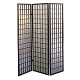 ORE International R566 3-Panel Room Divider, Cherry