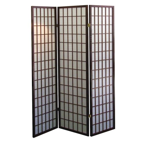 ORE International 3-Panel Room Divider, Cherry - Cherry Panel