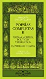 Poesias Completas II, De Santillana, Marques and Santillana, Marques de, 8470393294