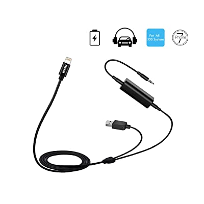 Car 3.5mm AUX USB Charging Cable for BMW Kia Hyundai, Universal Car Audio Adapter Compatible with iX i8 i7 Plus for Select Models of Honda Toyota Audi VW Mercedes(1 Meter): Home Audio & Theater