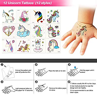 Qunan 60 Pack Unicorn Party Favors Supplies Unicorn Slap Bracelets Mask Rings Keychains Tattoos Rainbow Unicorn Gifts Toys Birthday Party Favors Goodie Bags Fillers: Toys & Games