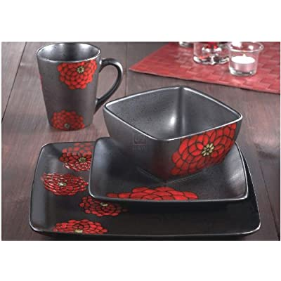 Click for Asiana 16 Piece Dinnerware Set Color: Red