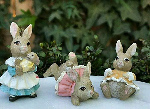 Mcgregors Garden - ShopForAllYou Figurines and Statues Miniature Fairy Easter ~ Mini Peter Rabbit McGregor's Garden Set/3 Mrs & 2 Girls