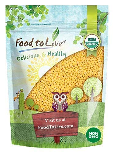 Organic Hulled Millet, 1 Pound - Whole Grain Seeds, Non-GMO, Kosher, Raw, Bulk, Product of the USA