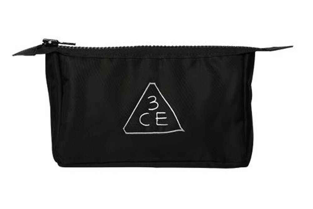 3CE Pouch Makeup Pouch Bag Travel Cosmetic Bags Black K-beauty Large
