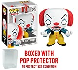 Funko Pop! Movies: Stephen King's It – Pennywise Clown Vinyl Figure (Bundled with Pop BOX PROTECTOR CASE)