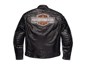98125-17EM Chaqueta de cuero Harley Davidson Legend: Amazon ...