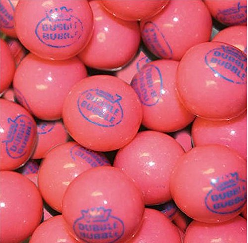 Dubble Bubble Pink 1928 Original 24mm Gumballs 1 Inch, 5 Pounds Approximately 275 Gum Balls. Includes a Free Product ()