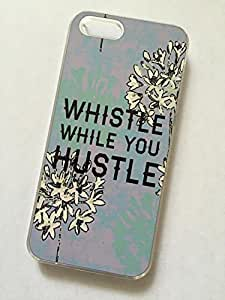Diy Yourself CLEAR cell phone case cover for iPhone 5c vacRIgJFHhy 5c WHISTLE WHILE YOU HUSTLE