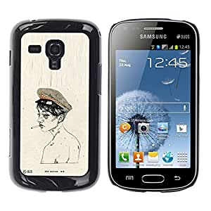 iKiki Tech / Estuche rígido - Soldier Army Smoke Naked - Samsung Galaxy S Duos S7562