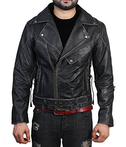 Vintage Leather Biker Jacket - 4