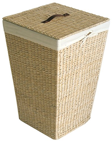 Natural Maize Storage Basket (Gelco 703253 Cottage Laundry Basket Maize Leaf Natural Fabric 39 x 39 x 57 cm)