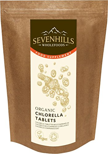 Sevenhills Wholefoods Organic Chlorella Broken Cell Wall 500mg Tablets Pack...