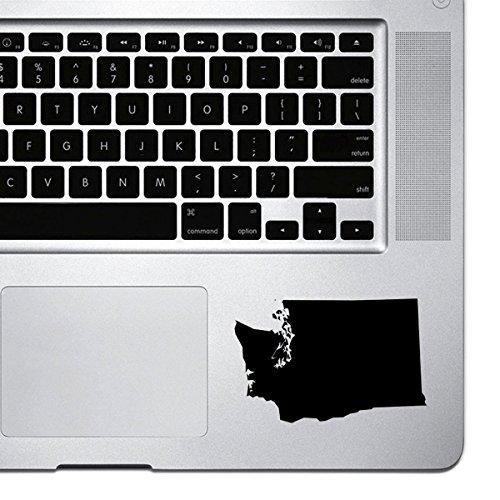 (StickAny Palm Series Washington WA Sticker for Macbook Pro, Chromebook, and Laptops (Black))