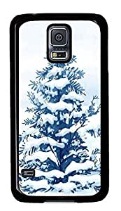 Samsung Galaxy S5 Christmas Snow Trees PC Custom Samsung Galaxy S5 Case Cover Black
