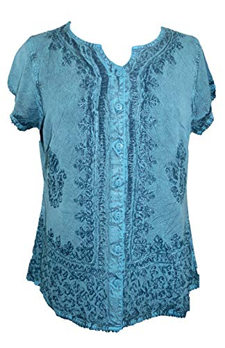 Agan Traders 144 B Medieval Bohemian Embroidered Top Shirt Blouse
