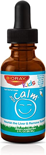 Calm Supplement for Kids by Bioray NDF Calm Supports Healthy Mood and Restful Sleep, Restores Emotional Balance, Supports Adrenal Reserves 2 fl oz