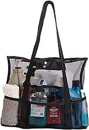 Beach Bag,Beach Toy Storage Bag Mesh Beach Bag Oversized Beach Tote,for Summer Beach Pool Camping Picnic Sport