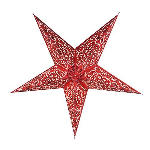 Papierstern / Weihnachtsstern Uranus rot / Papierstern 5 Zacken