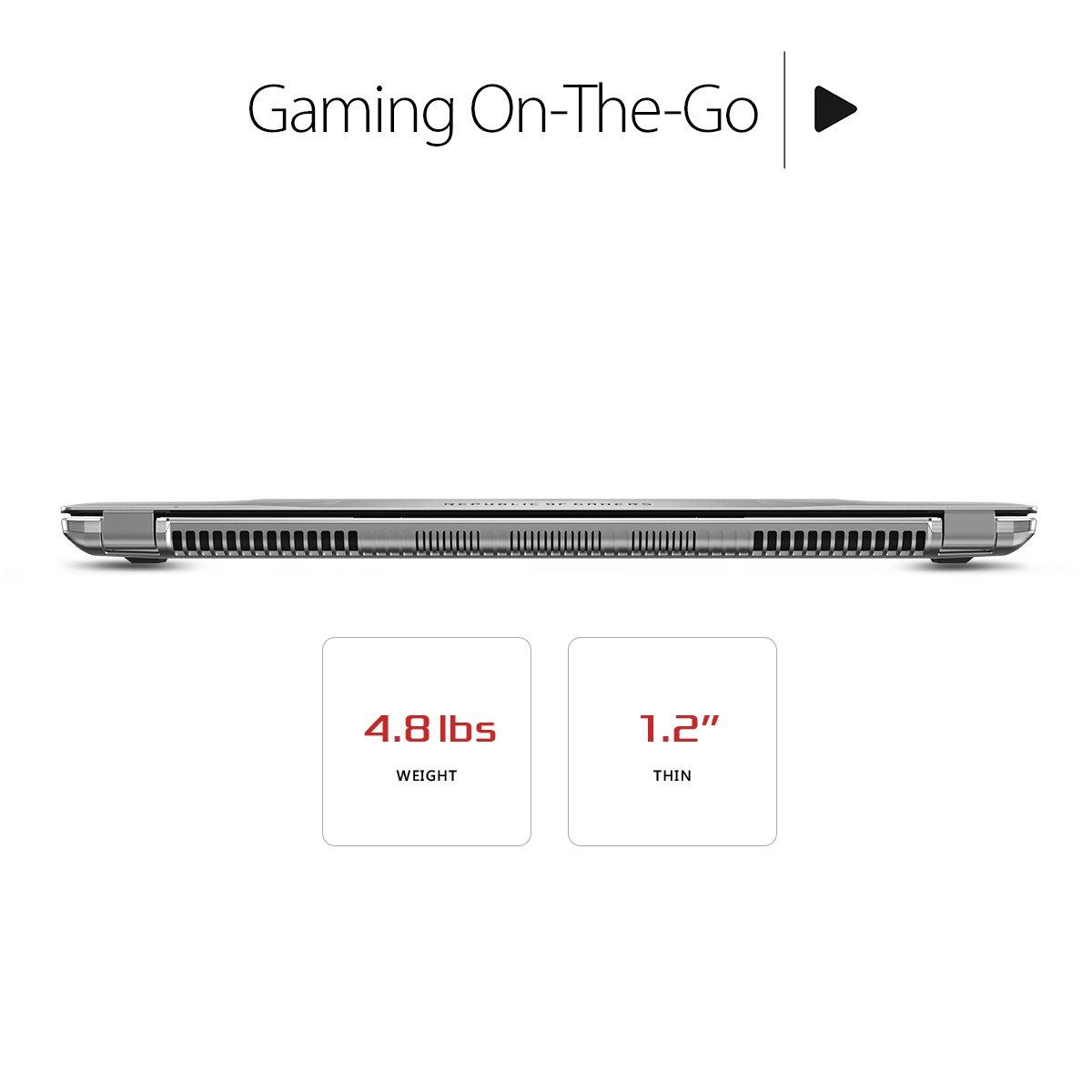 Asus I77700HQ Base de ROG Strix GSYNC 120 Hz Completo HD VR Listo Ultra Delgada luz portátil GeForce GTX 1070 de 8 GB, 16GB Dram DDR4, 128GB SSD, 1TB HDD, ...