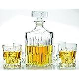 Circleware Italian Made Excalibur 5pc Whiskey Decanter Set