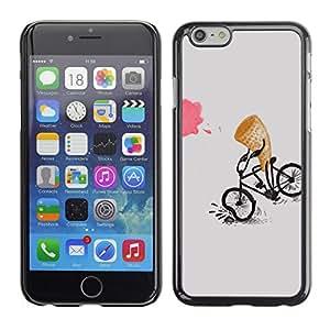 PC/Aluminum Funda Carcasa protectora para Apple Iphone 6 Ice-Cream Funny Cartoon Kids / JUSTGO PHONE PROTECTOR