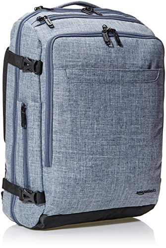 AmazonBasics Slim Carry On Laptop Travel Weekender Backpack - Denim