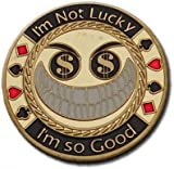 Poker Card Guard/Protector - I'M NOT LUCKY IM SO GOOD