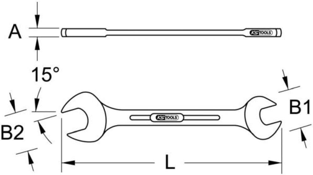 hochglanz poliert verchromt Doppel-Maul-Schl/üssel DIN 3110 12 x 13mm