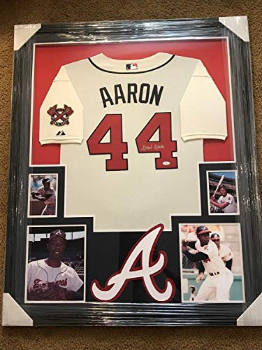 Hank Aaron Autographed Signed Framed Jersey - Certified for sale  Delivered anywhere in USA