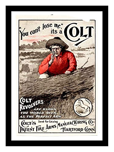 (Iron Ons 8 x 10 Photo Colt Patent Firearms 1890 Advertising Vintage Old Advertising Campaign Ads)