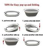 SAMMART Collapsible Plastic Laundry Basket - Oval