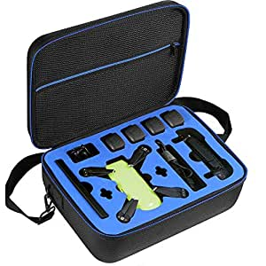 DJI Spark Drone Carrying Case by DOUBI - fit for 4 Drone Batteries Remote Controller Propeller Guard Battery Charger and other accessories