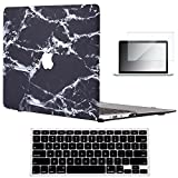 "Vasileios 3in1 Rubberized Frosted Soft-touch Hard Shell Case Cover for 13-inch Macbook Air 13.3"" (Model: A1369 and A1466) (Marble 04)"