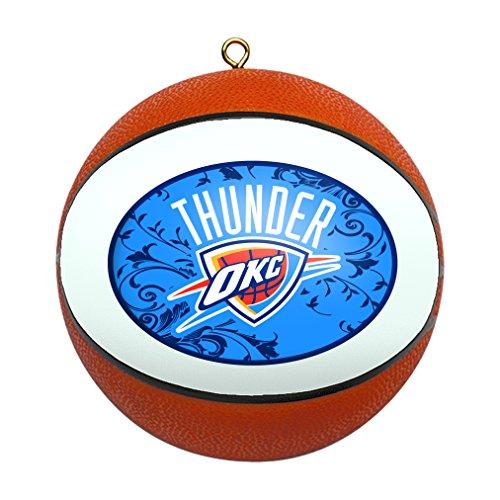 NBA Oklahoma City Thunder Replica Basketball Ornament - Basketball Ornament