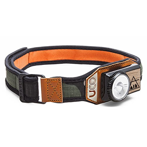 UCO Air 150 Lumen Lightweight Rechargeable LED Headlamp with Variable Brightness Dial Control and Adjustable Strap, Camo