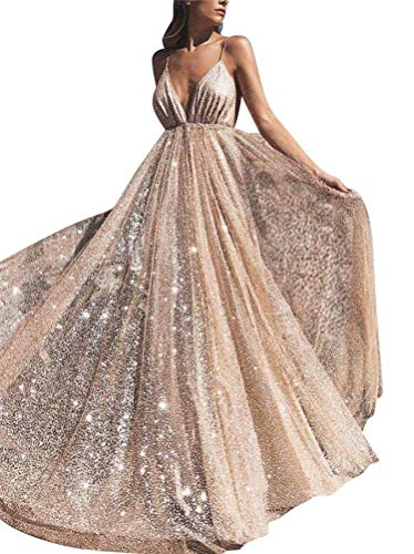 ep V-Neck Prom Dresses Long Backless Tulle Formal Evening Gown(RG-a 02) ()