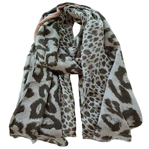 Ladies Women Fashion Beautiful leopard Design Long size silk blend Scarf Shawl
